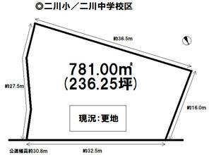 大岩町字本郷 売土地の間取り図