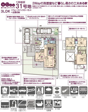 【ダイワハウス】セキュレアガーデン柏たなかI 136街区(分譲住宅)の外観