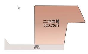 名古屋市昭和区八事本町の宅地の外観