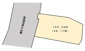 裾野市佐野 売土地(古家付き)の間取り図