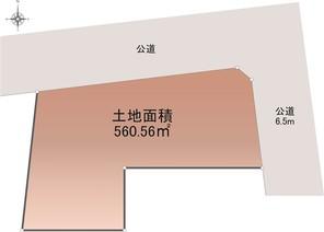 名古屋市天白区野並の宅地の外観