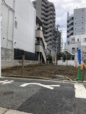 渋谷区笹塚の宅地の外観
