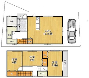 MOVE菱屋西1丁目 新築戸建住宅の間取り図