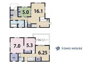 上尾市原市 2014-5-築の間取り図