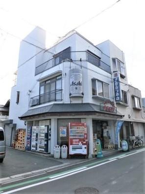 阿倍野区晴明通店舗付住宅の外観