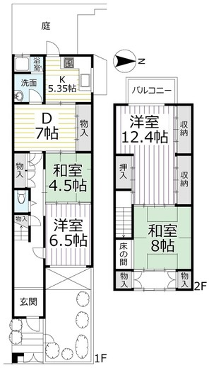 テラスハウス 上京区梶井町の間取り図