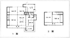 岡山市北区建部町大田の間取り図