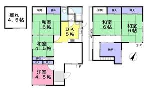 奈良県生駒郡三郷町信貴ケ丘1丁目の間取り図
