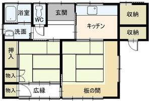 愛知県新城市長篠字大門の間取り図
