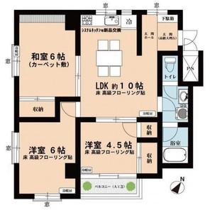 ◇ ハイライフ横浜 南向き ◇空室の間取り図