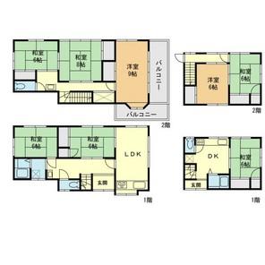 賃貸併用住宅 和田町の間取り図
