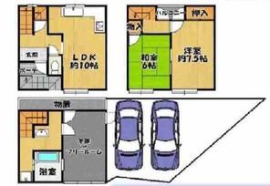 ★阿倍野区帝塚山1丁目:中古一戸建★の間取り図