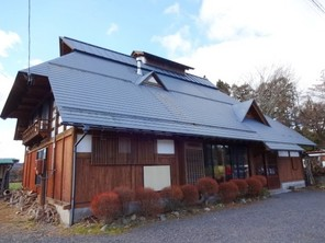 福島県西郷村 古民家風店舗+居宅棟の外観