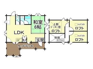 滋賀県高島市安曇川町長尾の間取り図