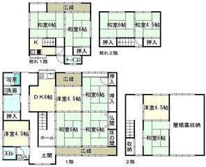 滋賀県米原市顔戸の間取り図