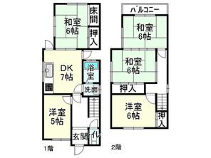 滋賀県大津市田辺町の間取り図