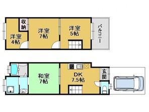 京都府京都市南区西九条池ノ内町の間取り図