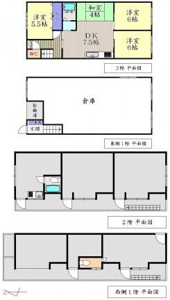 京都府京都市上京区西町の間取り図