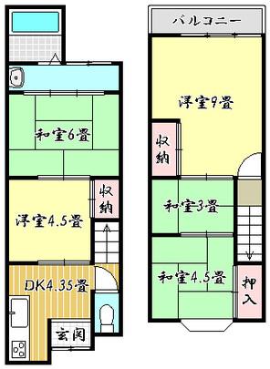 京都府京都市伏見区石田大受町の間取り図
