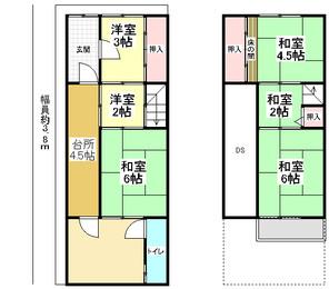 京都府京都市伏見区葭島矢倉町の間取り図