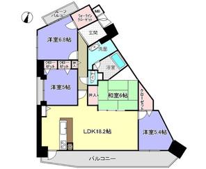 パデシオン三山木駅前の間取り図