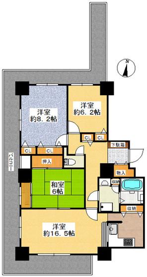 パーク・アヴェニュー神戸三田5号棟の間取り図