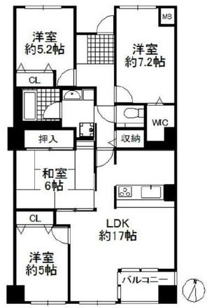 三田カルチャータウン・リフォレI棟の間取り図