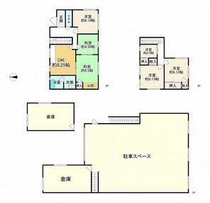 兵庫県姫路市保城の間取り図