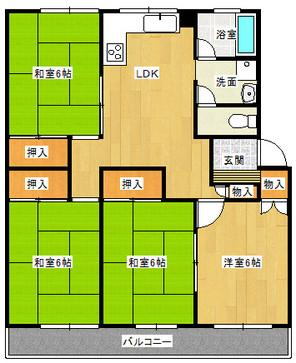 ローレルハイツ北神戸7号棟の間取り図