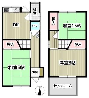 兵庫県尼崎市善法寺町の間取り図
