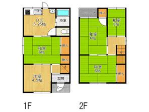 兵庫県加古川市平岡町新在家の間取り図
