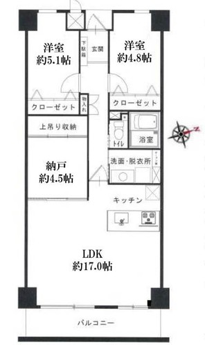 ザ・スクエア A棟の間取り図