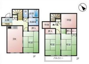 東京都東大和市桜が丘4丁目の間取り図