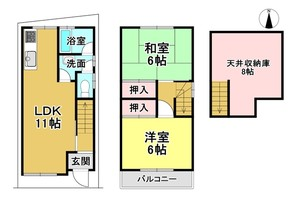 京都府京都市中京区壬生御所ノ内町の間取り図