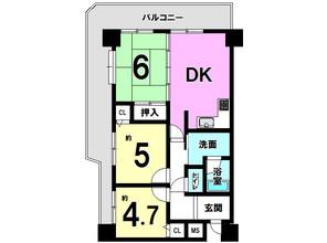 中古マンション サンライズマンション和歌山Iの間取り図