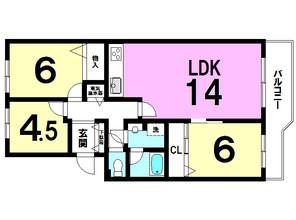 エクレール二宮A棟の間取り図