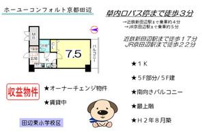 中古マンション ホーユウコンフォルト京都田辺の間取り図