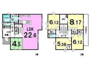 ■中古戸建 新宮町杜の宮3丁目の間取り図