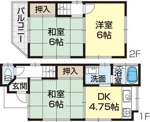和歌山市田尻・中古戸建・53827の間取り図