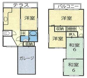 和歌山市田尻・中古戸建・54122の間取り図