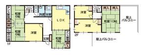 和歌山市杭ノ瀬・中古戸建・54145の間取り図