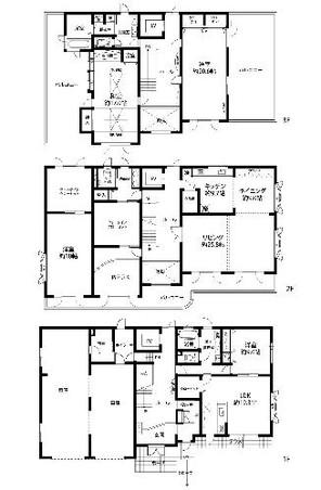 北郷3条1丁目 戸建住宅の間取り図