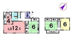 西脇市野村町緑風台の間取り図