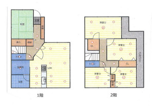 東大阪市菱屋西6丁目 中古戸建の間取り図