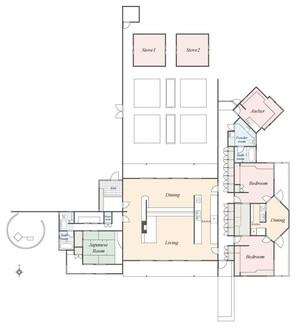 ISUMI LAKE HOUSEの間取り図
