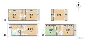 京都府京都市中京区壬生松原町の間取り図