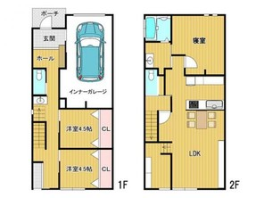 高山市名田町 中古戸建 3LDKの間取り図
