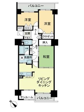 ライオンズマンション高岡中島町の間取り図