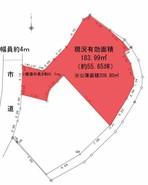松江市浜乃木四丁目 北側区画の間取り図