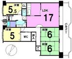 南港はなのまち住宅33号棟の間取り図